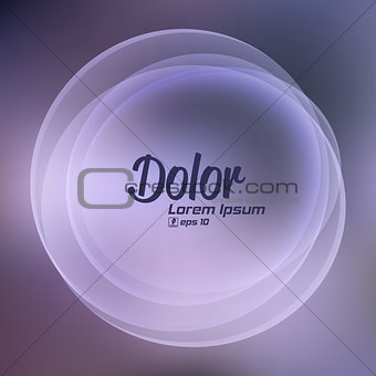 Abstract smooth light circle vector background.