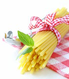 Italian still life - pasta, basil, healthy food