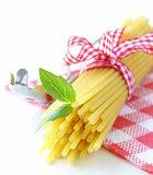 Italian still life - pasta, basil, healthy food