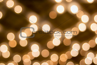 Old Theater Marquee Ceiling Lights Bokeh