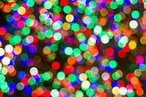 Colorful Christmas Tree Lights Bokeh
