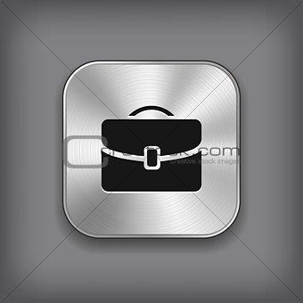 Case icon - vector metal app button