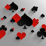 Abstract vector background with playing cards elements