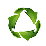 Recycle symbol isolated on white background