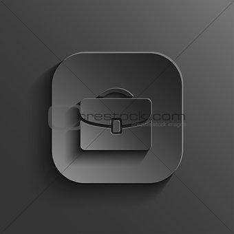 Briefcase icon - vector black app button with shadow