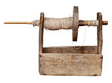 Ancient ukrainian wooden reel - tool for the production of yarn
