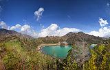 Dieng Plateau, Jawa, Indonesia, Telaga Wama lake