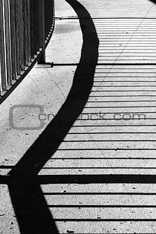 Railing shadow
