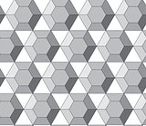 Simple geometric vector pattern - hexagonal diamonds
