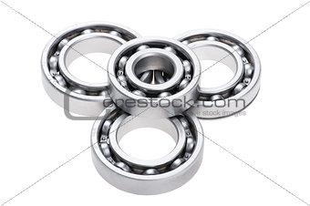 chrome bearing on white