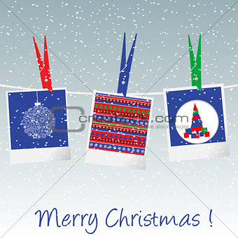 Christmas card with pictures
