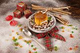 Christmas creme caramel