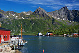 Lofoten fishing harbor