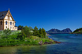 Nature around Lofoten cathedral