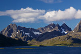 Scenic mountains on Lofoten