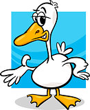 duck or goose cartoon farm bird