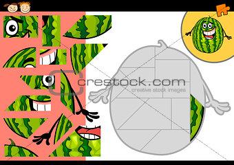 cartoon watermelon jigsaw puzzle game
