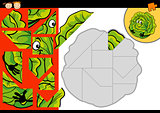 cartoon cabbage jigsaw puzzle game