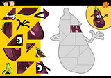 cartoon eggplant jigsaw puzzle game
