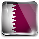 Qatar Flag Smartphone Application Square Buttons