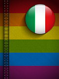 Gay Flag Button on Jeans Fabric Texture Italy
