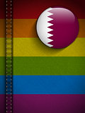 Gay Flag Button on Jeans Fabric Texture Qatar
