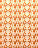 Seamless Pattern Orange Yellow Retro Damask Flower Background