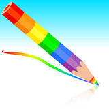 rainbow pencil , vector illustration.