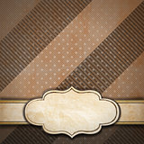 Brown Vintage Background with Label