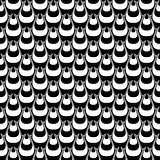 Design seamless monochrome striped pyramid pattern