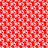 Design seamless red decorative spiral diagonal pattern