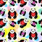Seamless pattern with panda
