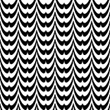 Design seamless monochrome striped wave pattern