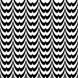 Design seamless monochrome striped wave pattern