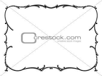 art nouveau black decorative frame