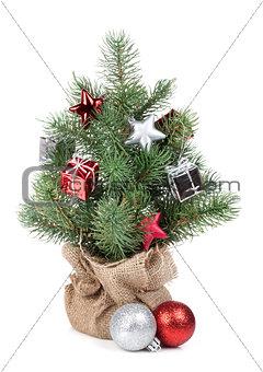 Small christmas tree with decor