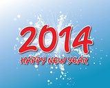 Creative happy new year 2014 design.