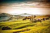 Evening mood landscape Tuscany