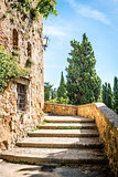Stairs in Pienza