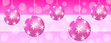 Pink Christmas panoramic background