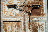 Old Chain on Istanbul Door