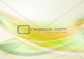 Bright iridescent vector waves