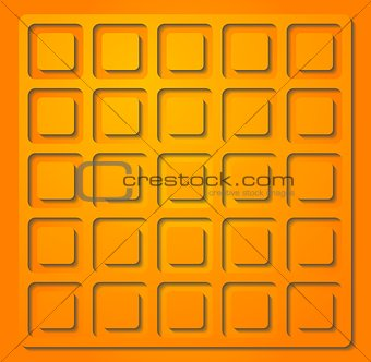 Bright orange vector illustration