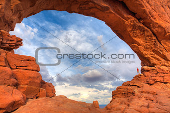 Beautiful rock formations in Arches National Park, Utah, USA
