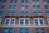 Detail of brick apartment in Brooklyn