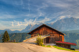 Old woodshed in Austria