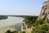 Devin castle Towers, View to Danube and Morava Rivers