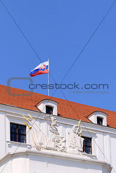 Bratislava castle situated on a plateau 85 metres (279 ft) above