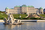 Belvedere Palace fountain and garden