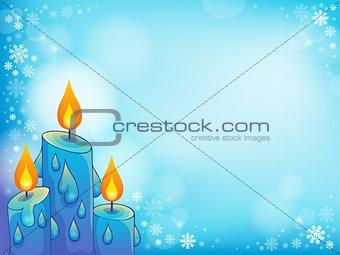 Christmas candle theme image 4